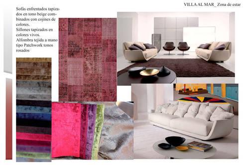 Estudio de materiales Salón: Casas de estilo  de CANOCARTERETdesign&execution