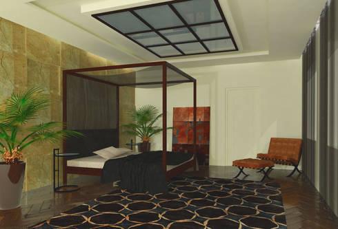Dormitorio Principal infografia: Casas de estilo  de CANOCARTERETdesign&execution