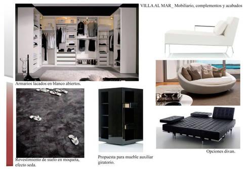 Estudio materiales vestidor: Casas de estilo  de CANOCARTERETdesign&execution
