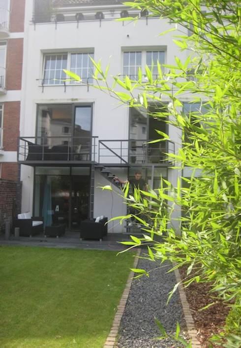 gartenumgestaltung mit treppenbau privathaus d sseldorf. Black Bedroom Furniture Sets. Home Design Ideas