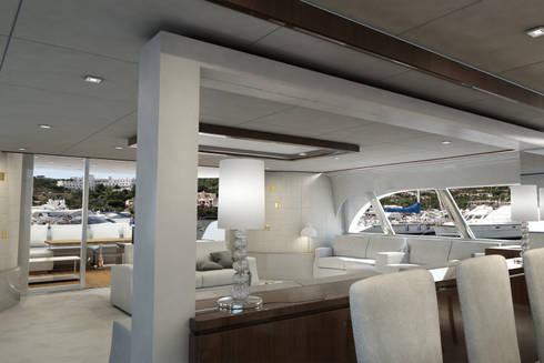 Nautica: eleganza e praticità: Pareti & Pavimenti in stile  di Lapèlle Design