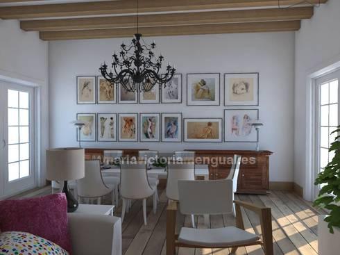 Reforma de cochera.: Salones de estilo ecléctico de MUMARQ ARQUITECTURA E INTERIORISMO