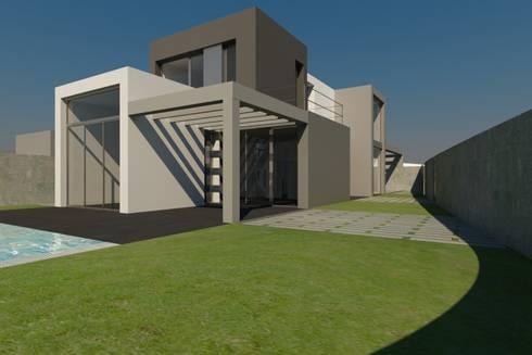 Vista exterior : Casas de estilo minimalista de RUBÉN MUEDRA ESTUDIO DE ARQUITECTURA