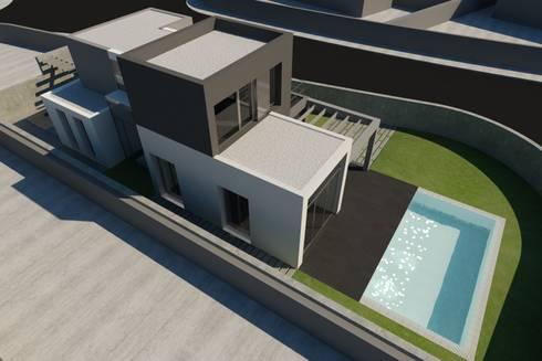 VIVIENDA UNIFAMILIAR EN ALBAL: Casas de estilo minimalista de RUBÉN MUEDRA ESTUDIO DE ARQUITECTURA