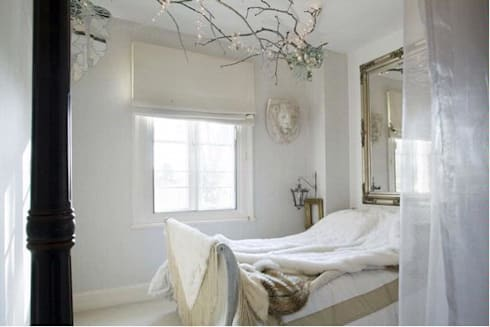 Whimsical bedroom: eclectic Bedroom by SB design Studio