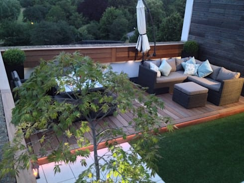 Roof terrace 3:  Balconies, verandas & terraces  by Paul Newman Landscapes
