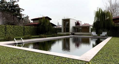 Villa Santa Giustina: Case in stile  di studium architecturae