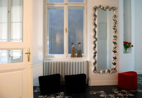 Mirror Waves of Life: eclectic Living room by Adonis Pauli HOME JEWELS