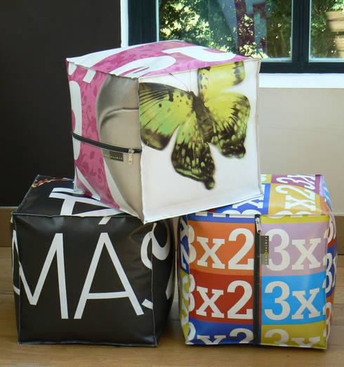 Pouf - Dekocube: Chambre d'enfants de style  par Reversible