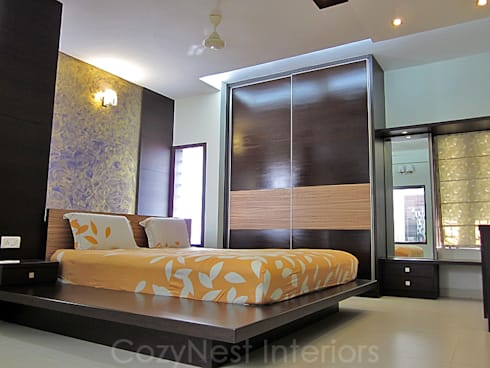 Chinta Residence: modern Bedroom by Cozy Nest Interiors