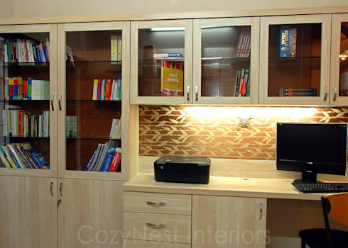 Ramaiyan Residence: modern Study/office by Cozy Nest Interiors