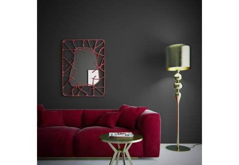 Mirror Estrella: eclectic Living room by Adonis Pauli HOME JEWELS
