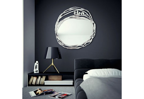 Mirror Love Nest: eclectic Living room by Adonis Pauli HOME JEWELS