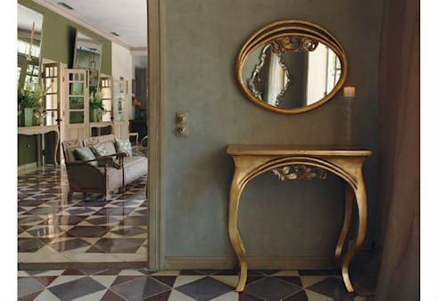Mirror and Console Table Finesse: eclectic Living room by Adonis Pauli HOME JEWELS