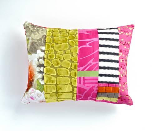 Felix luxury patchwork cushion: eclectic Living room by Suzy Newton Ltd.