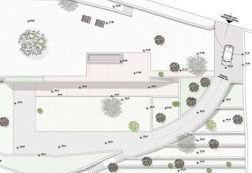 Ampliamento di edificio residenziale in località punta Aspera, Varazze (SV): Case in stile in stile Minimalista di dedalo s.r.l.