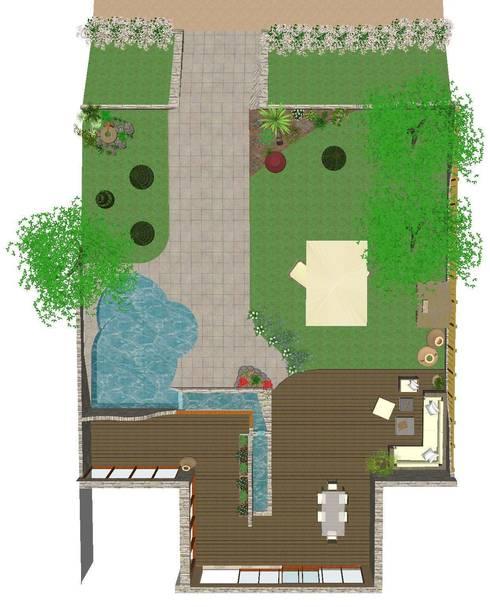 Beautiful Garden:  in stile  di Studio di Progettazione e Interior Design Cinzia Simonini