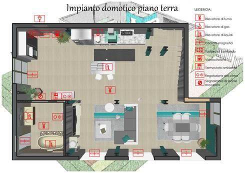 Proposta di arredo di un loft e progettazione di un impianto domotico:  in stile  di Studio di Progettazione e Interior Design Cinzia Simonini