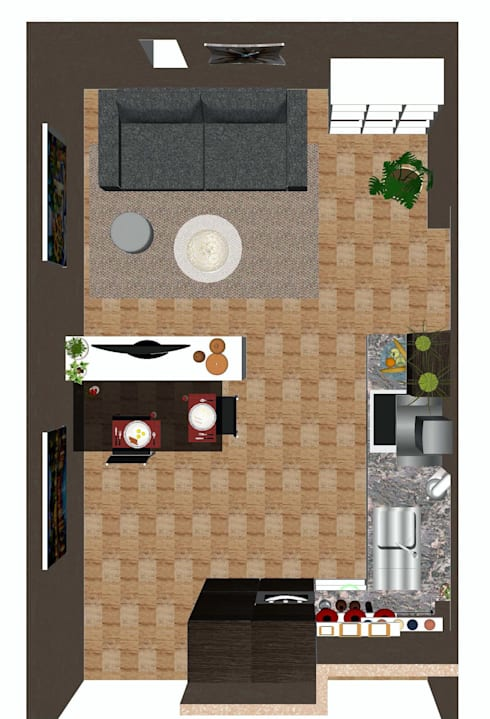 Proposta di arredo di una zona giorno:  in stile  di Studio di Progettazione e Interior Design Cinzia Simonini