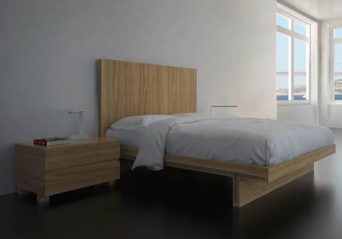 Dormitorio Moderno Lenervo: Dormitorios de estilo  de Paco Escrivá Muebles