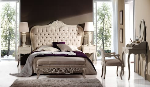 Dormitorio Vintage Blanco Robert: Dormitorios de estilo  de Paco Escrivá Muebles