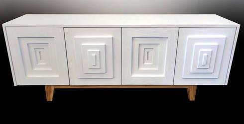 In & Out sideboard: Soggiorno in stile in stile Eclettico di Francesco Della Femina