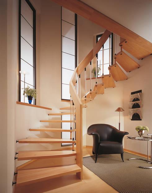 Corridor, hallway & stairs  by Ramp Treppenbau