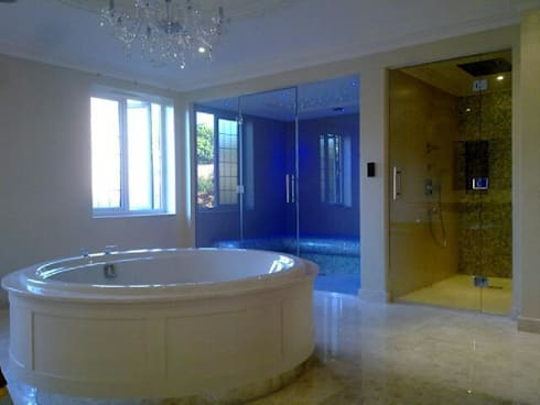 Tiled steam room Ascot:   by Leisurequip Limited