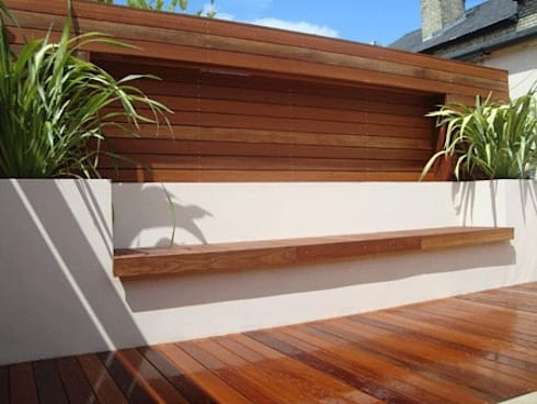 Built in seating & benches:  Garden  by Paul Newman Landscapes