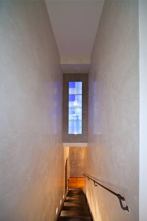 Treppenhaus-Gestaltung mit Marmorputz, Gesindehaus, Bad Hönningen ...