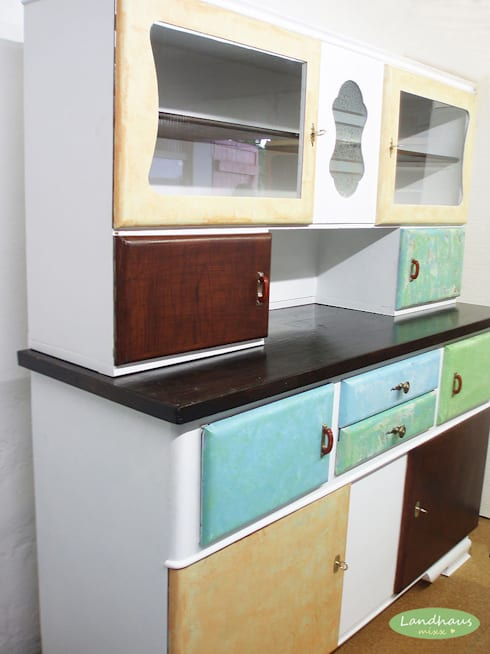 """Großer Vintage Küchenschrank """"Ella"""" ♥ Shabby Chic :  Küche von Landhausmixx"""