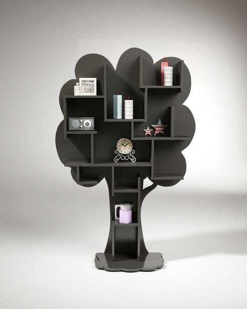 Bibliothèque arbre: Salon de style  par Mathy by Bols