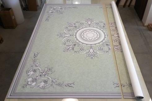Decorazioni Modulari: Pareti & Pavimenti in stile in stile Classico di Affreschi & Affreschi