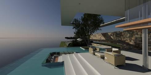 ULUWATU HOUSE:  Balconies, verandas & terraces  by Guz Architects