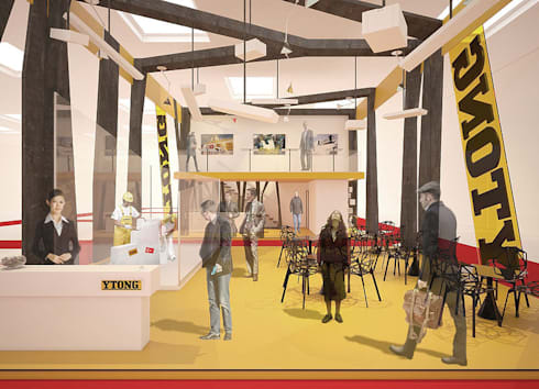 Ytong stand design:  Office spaces & stores  by Haag Architects