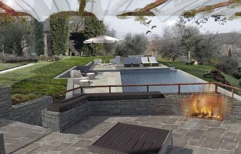 progetto di piscina privata: Piscina in stile  di OROBLUPISCINE
