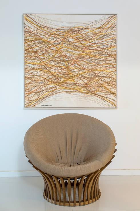 arte: Salas de estar modernas por Bruno Sgrillo Arquitetura