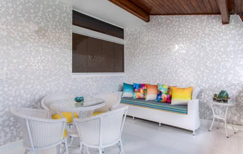Tecidos Solares: Terraços  por Bruno Sgrillo Arquitetura