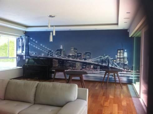 SALA DE JUEGOS : Salas multimedia de estilo minimalista por GHT EcoArquitectos