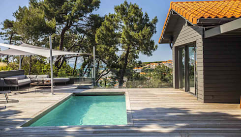 Voiles d \'ombrage et canapé Outdoor à Biarritz. von LA MAISON EHIA ...