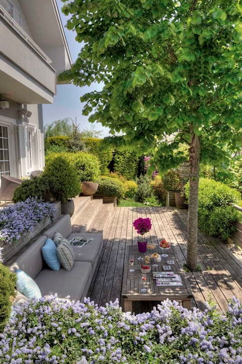 Jardines de estilo  por Esra Kazmirci Mimarlik