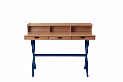 Hyppolite Desk: modern Study/office by La Corbeille Éditions