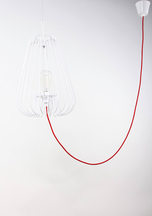 Light Cage in white - design Jocelyn Deris: modern Living room by La Corbeille Éditions