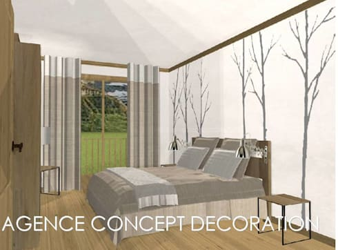 agencement g n ral d 39 un appartement de montagne par agence concept decoration homify. Black Bedroom Furniture Sets. Home Design Ideas