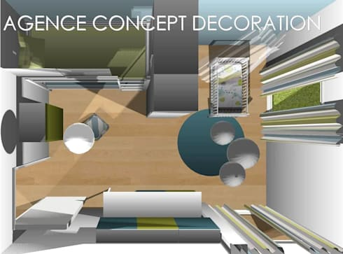 optimiser petit appartement par agence concept decoration homify. Black Bedroom Furniture Sets. Home Design Ideas