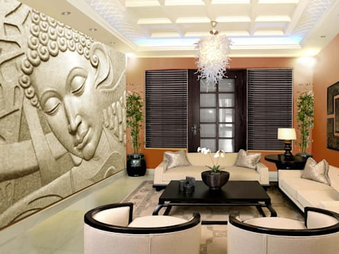 Villa at new delhi:   by Orchid Interiors