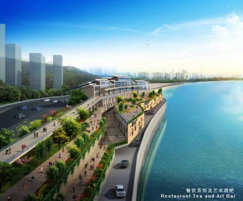 Cultural Plaza Nanbin Lu Ertang, Banan District Chongqing (Cina): Musei in stile  di VMCF ATELIER
