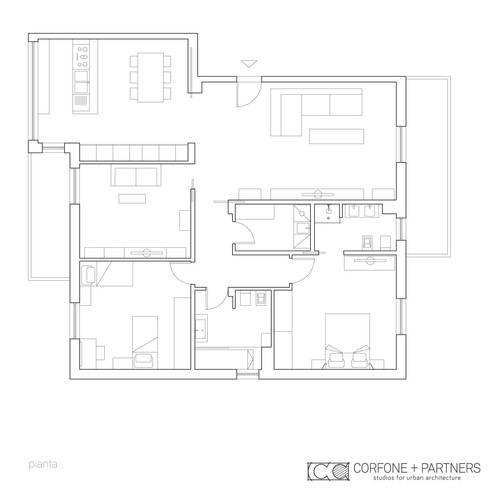 CASA I7:  in stile  di CORFONE + PARTNERS studios for urban architecture
