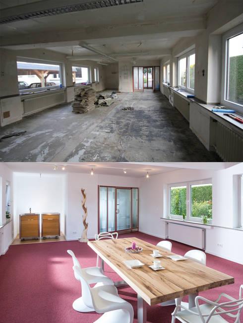 Wohnwert Showroom vorher/ nachher:   von Wohnwert Innenarchitektur