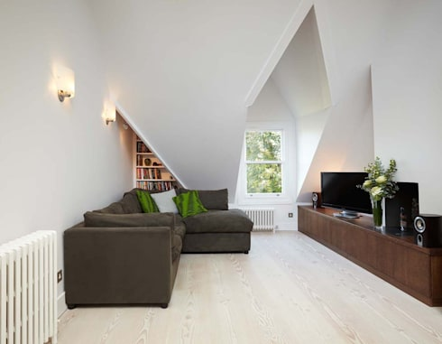 Parliament Hill Interior Design, Hampstead, London: scandinavian Living room by Residence Interior Design Ltd